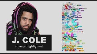JID - Off Deez - J. Cole's Verse - Lyrics, Rhymes Highlighted (055)