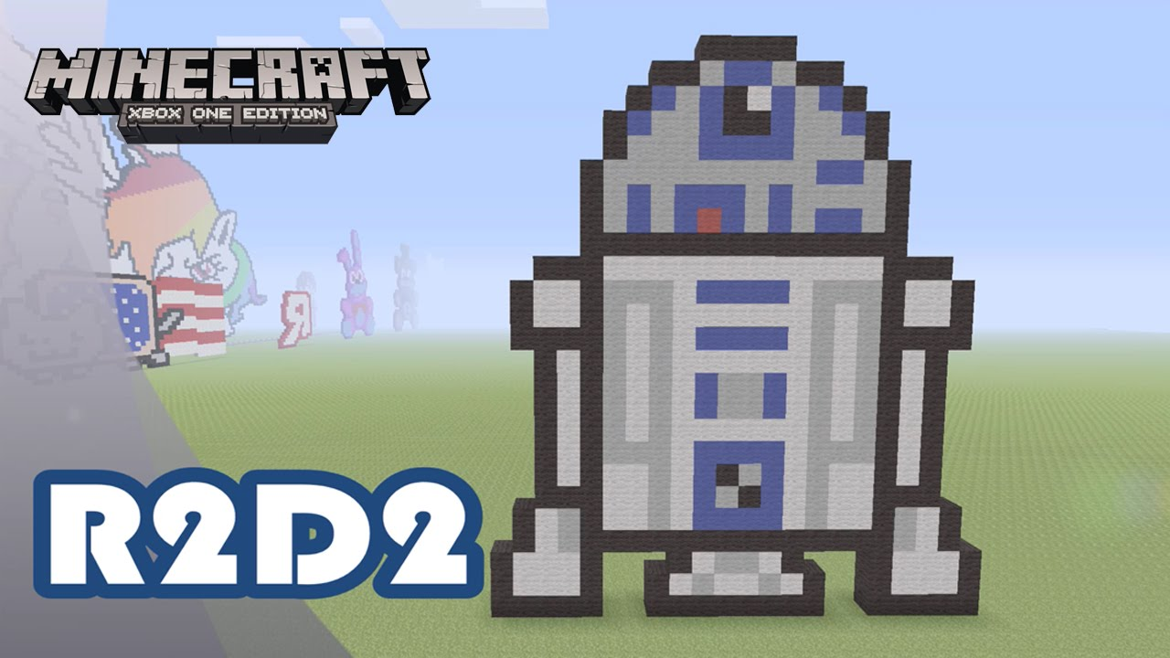 Minecraft Pixel Art Tutorial And Showcase R2 D2 Star