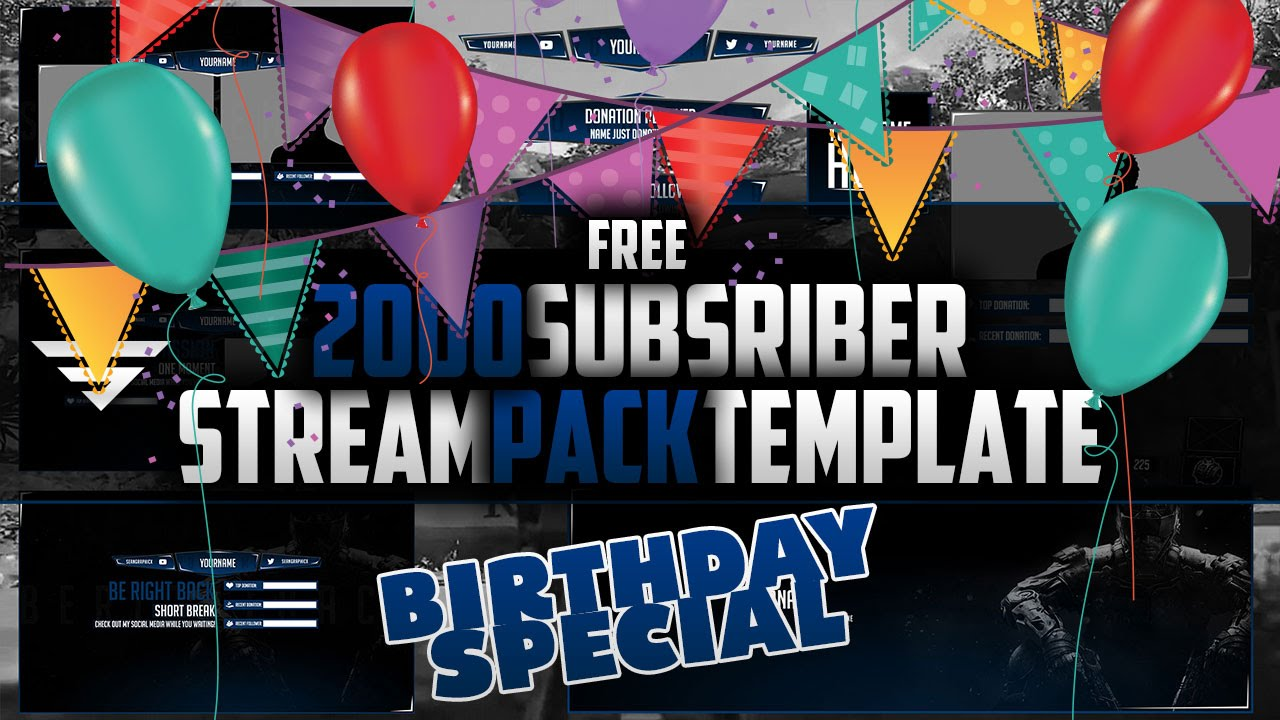 2k free stream pack template special