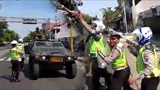 Polisi Mendadak Hentikan Konvoi Alutsista TNI yang Dikawal Polisi Militer, Ini yang Terjadi