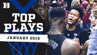 Duke Basketball: January 2019 Top Plays