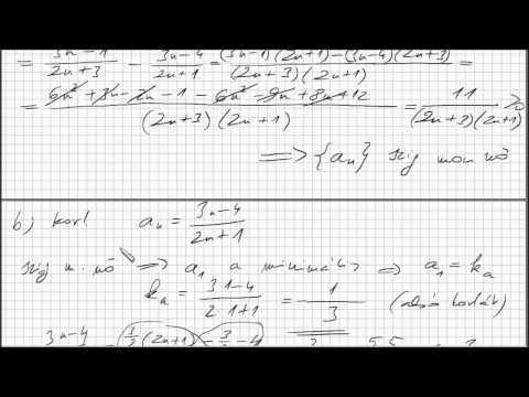 Analízis - 1. feladat - Sorozatok határértéke, monotonitás, korlátosság, küszöbszám videó letöltése