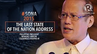 SONA 2015 July 27 (Part #8)