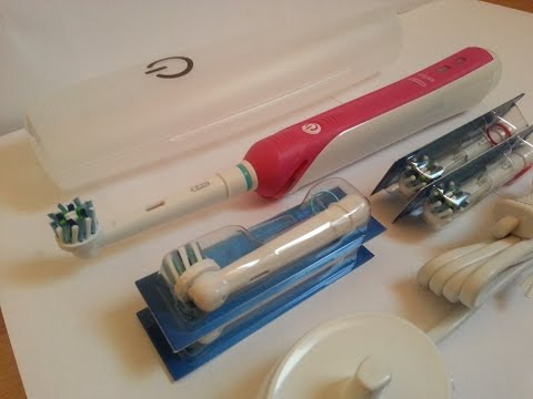 braun-oral-b-pro-2500-special-edition-deluxe-starter-kit,-cross-action-brush-head-unboxing
