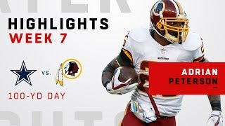 Adrian Peterson Highlights vs. Cowboys