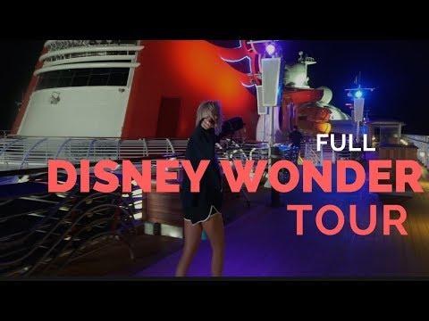 DISNEY WONDER FULL SHIP TOUR