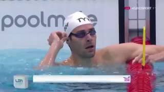 Camille Lacourt Wins Men's 50m Backstroke Final LEN European Swimming Championships London 2016