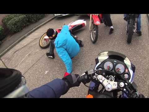 UK police terrorised by dirt bikes (go pro)