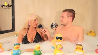Amandine (Les Anges 8) dans le bain de Jeremstar - INTERVIEW