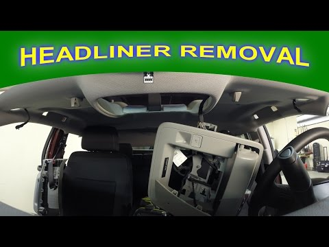 Headliner Removal For Paintless Hail Damage Repair