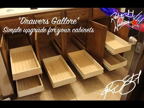 How to make and install drawers for your bathroom cabinet