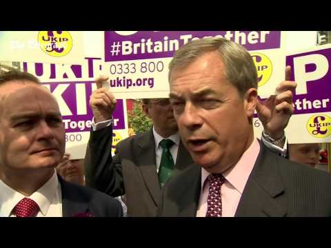 Video captures exact moment Nigel Farage finds out Craig Mackinlay has been charged