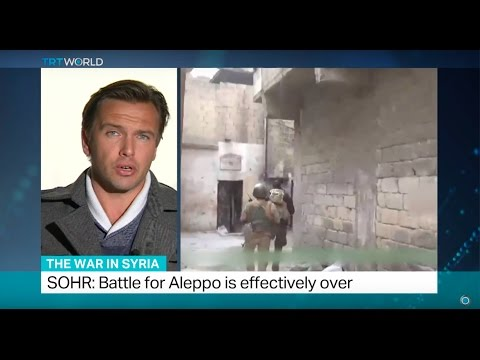 The War In Syria: SOHR says battle for Aleppo is effectively over