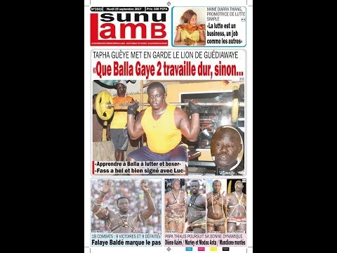 Modou Lô, Ama Baldé et Tapha Gueye dans la revue de presse 100% Lamb du 19 septembre