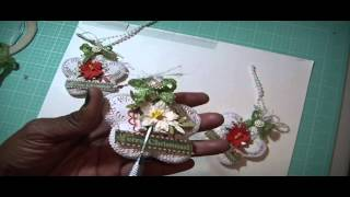 Christmas in July series ~Flower Shaped X-mas Ornaments