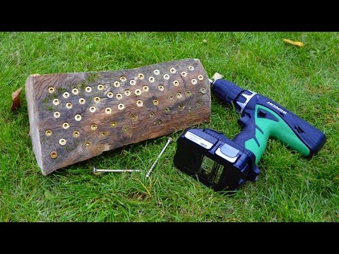 Hitachi DV18DCL2 driver drill vs block of hardwood - real life test and review