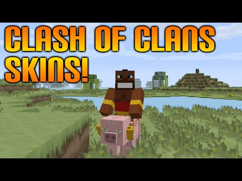 ★Minecraft Xbox 360 + PS3 Custom Clash Of Clans Skin Pack Showcase + Sphax Texturepack★