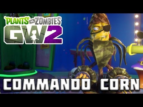 LEGENDARY COMMANDO CORN GAMEPLAY! Plants vs Zombies Garden W