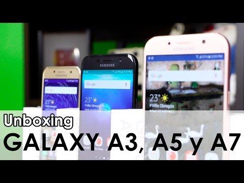 Samsung Galaxy A3, A5 y A7 (2017) - Unboxing y primeras impresiones