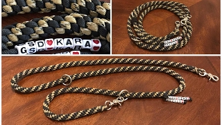 How to make a Paracord Dog Leash round shape video 7 in 1 DIY versatile durable solid strong lead