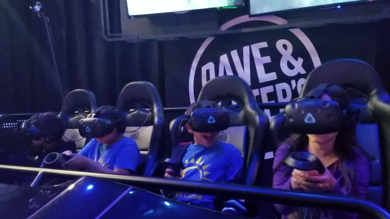 Brand New Jurassic World Vr Expedition At Dave And Busters