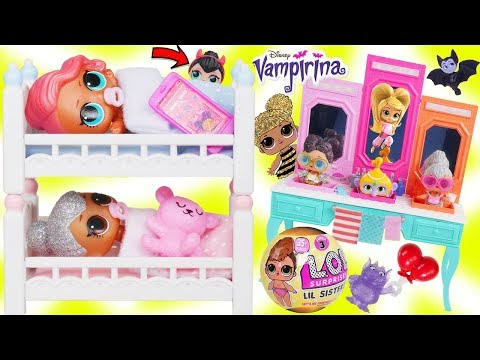 LOL Surprise Dolls + FAKE Lil Sisters Treasure Morning Routine for Barbie House