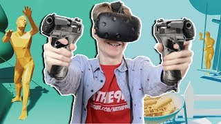 SUPERHOT ZOMBIE SHOOTING GAME! | Hobby Zombie VR (HTC Vive Gameplay)