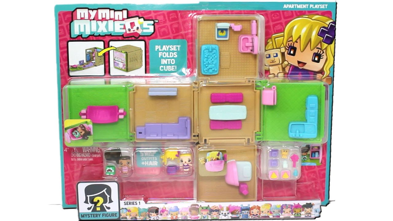 My Mini Mixie Q's Apartment Playset Pack Unboxing Review