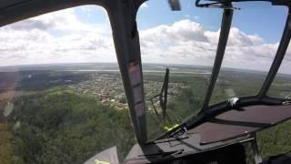 Ми-8 взлет , посадка, вид из кабины глазами пилотов!!!!