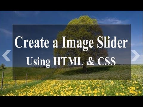 How To Create A Image Slider Using HTML And CSS