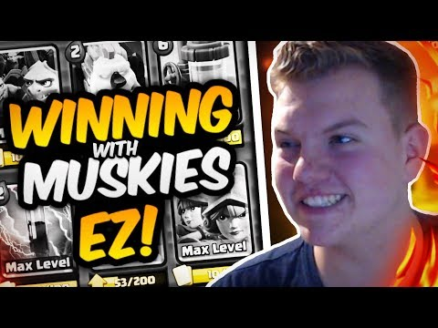 EZ 12 WINS! 3 Musketeers Cycle Deck LIVE in Grand Challenge - Clash Royale
