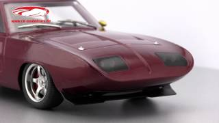 ck-modelcars-video: Dom's Dodge Charger Daytona Fast and Furious VI 2013 Greenlight