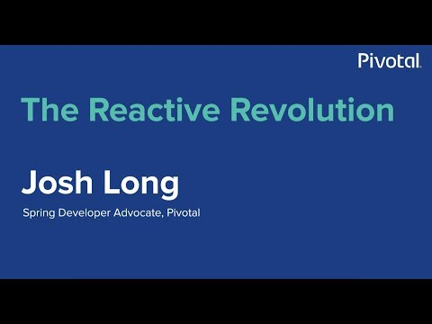 Singapore - The Reactive Revolution - Josh Long