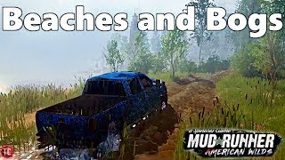 SpinTires MudRunner American Wilds: NEW MAP! Beaches and Bogs