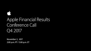 Gambar cover Apple Financial Results Conference Call - Q4 2017