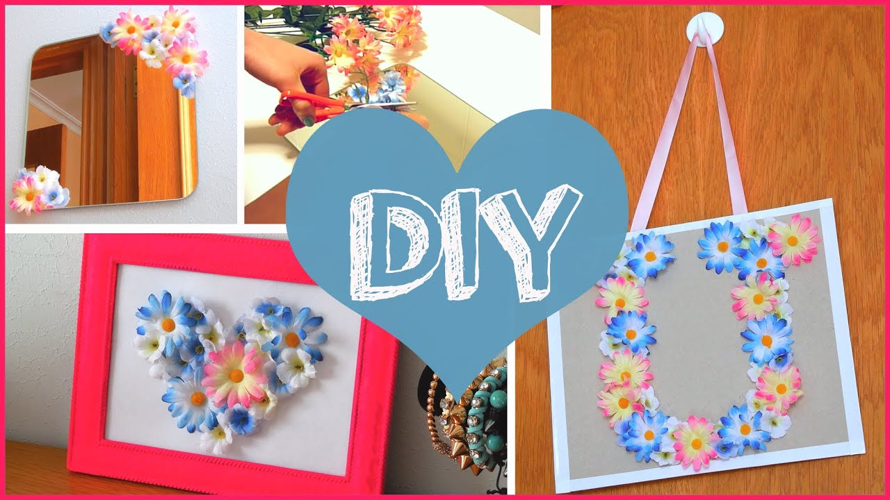 Ordinary Cool Easy Crafts For Your Room Part - 10: DIY ROOM DECOR ? Cheap U0026 Cute Projects Using Fake Flowers!!