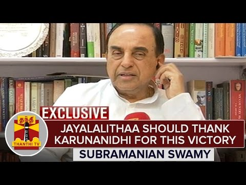 """Jayalalithaa Should Thank Karunanidhi For This Historic Win"" - Subramanian Swamy 