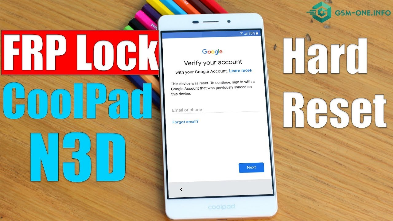 Coolpad N3D (1281) | Hard Reset & Bypass FRP Google Account Android 8 1 0