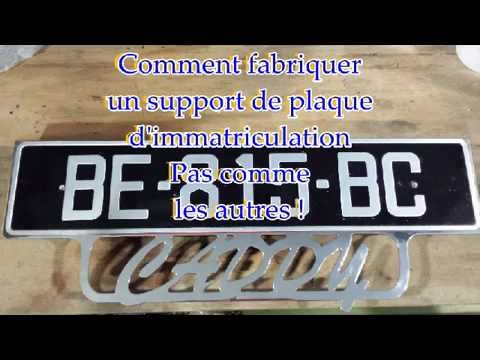 comment faire un support de plaque d 39 immatriculation caddy pick up tintingsxr youtube. Black Bedroom Furniture Sets. Home Design Ideas