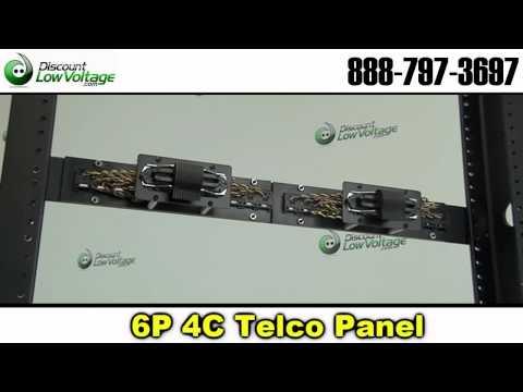 24 port Telco Cat3 Patch Panel RJ11 6P4C