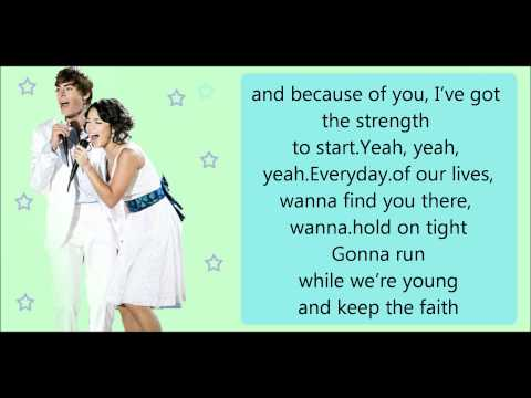 Everyday - karaoke - high school musical2
