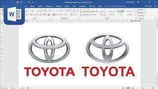 كيفية إنشاء شعار تويوتا في Microsoft Word (البرنامج التعليمي)