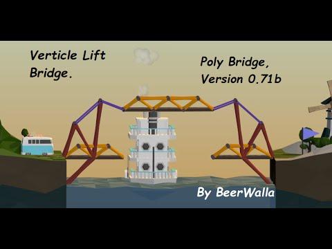 poly bridge verticle lift bridge 14m drawbridge alpine meadows solution how to beat lets play. Black Bedroom Furniture Sets. Home Design Ideas