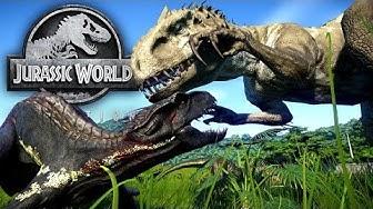 Jurassic World Evolution #27 - Kampf der Dinosaurier & Indoraptor VS Indominus Rex! | LP JW Deutsch