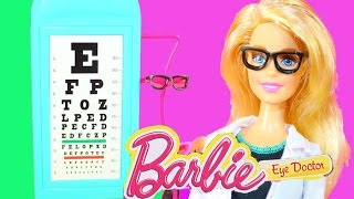 BARBIE EYE DOCTOR New 2015 Playset Barbie Baby Doll & Eye Doctor Fun Toys Glasses Toy Review Video