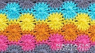 Learn How to Crochet the Catherine's Wheel Crochet Stitch Pattern by Naztazia