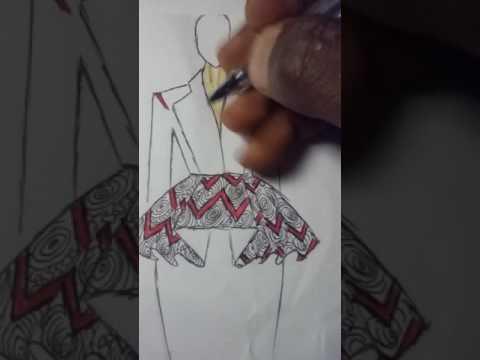 Fashion illustration, designing an African fabrics  (Ankara ) tutorials...