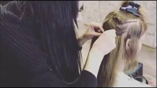 видео Наращивание волос на трессах