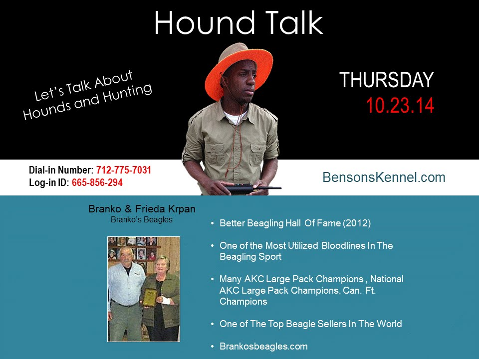 Hound Talk Branko Frieda Krpan Of Branko S Beagles And Robert