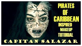 PIRATES OF THE CARIBBEAN SALAZAR INSPIRED MAKEUP TUTORIAL    CANDY 'S ROUGE